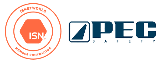 We're certified with PEC Safety and an ISN Member Contractor